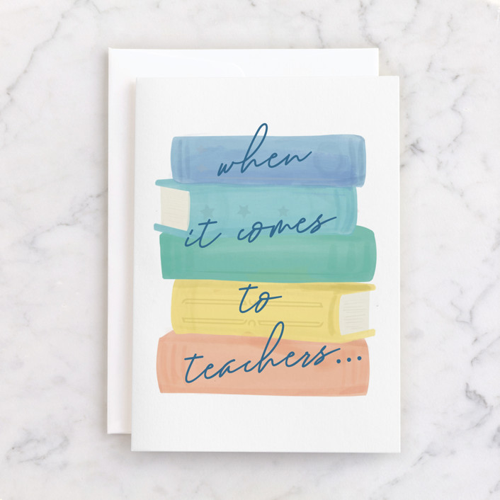 """""""chapter"""" - Individual Thank You Greeting Cards in Primary by Tennie and Co.."""