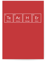 This is a red greeting card by Heather Schertzer called Genius with standard printing on signature in greeting cards.