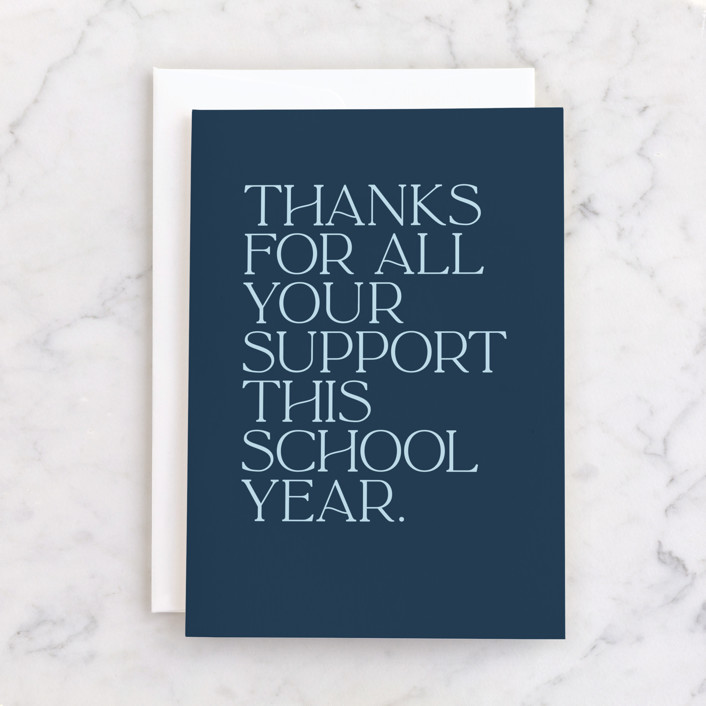 """Simply Modern"" - Individual Thank You Greeting Cards in Navy by Lea Delaveris."