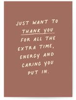 This is a pink greeting card by Annie Clark called Passing Notes with standard printing on signature in greeting cards.