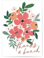 This is a white greeting card by Everett Paper Goods called Bunch of Thanks with standard printing on signature in greeting cards.