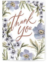This is a purple greeting card by Wildfield Paper Co called Hydrangea with standard printing on signature in greeting cards.
