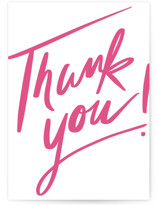 This is a pink greeting card by Oscar and Emma - Karly Depew called Huge Thanks with standard printing on signature in greeting cards.