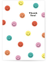 This is a colorful greeting card by Violet and Mae called smiling with standard printing on signature in greeting cards.