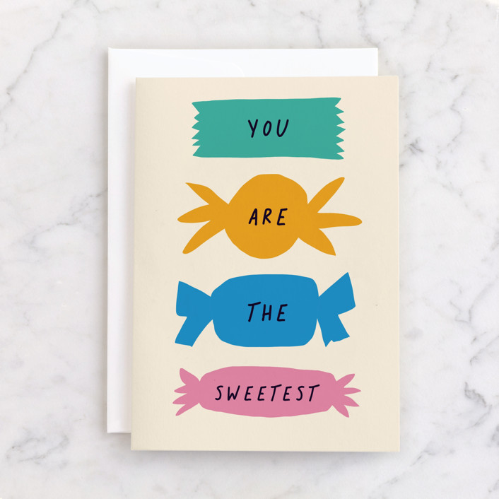 """""""The Sweetest"""" - Individual Thank You Greeting Cards in Butterscotch by Alexandra Dzh."""