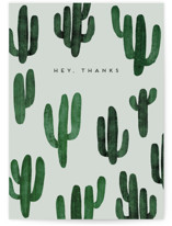 This is a green greeting card by Heather Cairl called Saguaro with standard printing on signature in greeting cards.