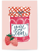 This is a pink valentines day card by Everett Paper Goods called My Jam with standard printing on signature in greeting cards.