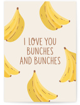 This is a yellow valentines day card by Erica Krystek called Bunches & Bunches with standard printing on signature in greeting cards.