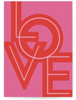This is a pink valentines day card by Nazia Hyder called Bold Gilded Love with standard printing on signature in greeting cards.