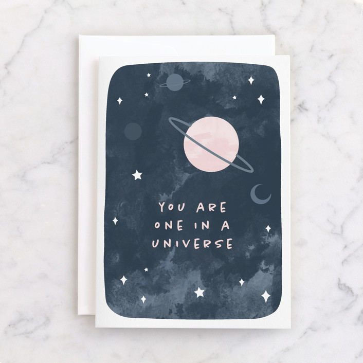 """""""Universe"""" - Individual Valentine's Day Greeting Cards in Space by Tennie and Co.."""