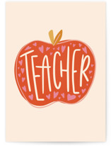 This is a red valentines day card by Meagan Bateman called Teacher Appreciation with standard printing on signature in greeting cards.