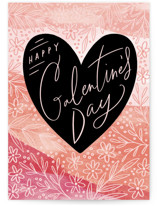 This is a pink valentines day card by Alethea and Ruth called Color washed message with standard printing on signature in greeting cards.
