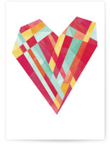 This is a red valentines day card by Robert and Stella called Bright Heart with standard printing on signature in greeting cards.