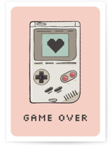 This is a pink valentines day card by Juliana Zimmermann called Game over with standard printing on signature in greeting cards.