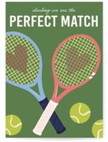 This is a green valentines day card by Lauren Jinhee called Perfect Match with standard printing on signature in greeting cards.