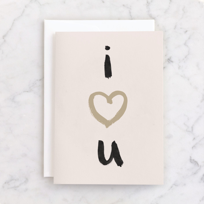 """""""love on your birthday"""" - Individual Valentine's Day Greeting Cards in Blush by Qing Ji."""
