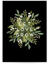 This is a green wedding card by Jennifer Wick called Laurel of Greens with standard printing on signature in greeting cards.