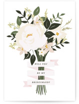 This is a beige wedding card by Haley Warner called Bridesmaid Bouquet with standard printing on signature in greeting cards.