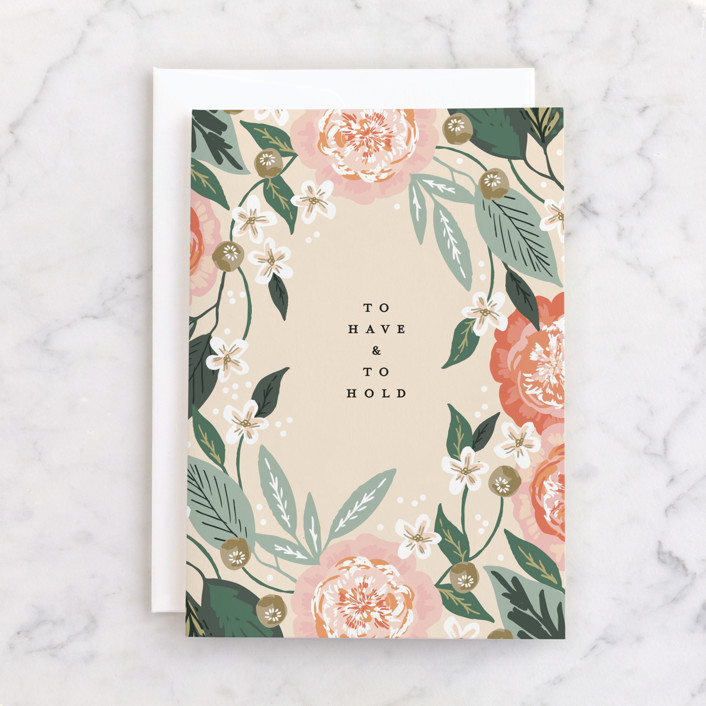 """""""To Have and To Hold"""" - Individual Wedding Greeting Cards in Rose by Alethea and Ruth."""