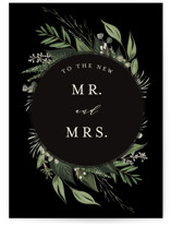 This is a black wedding card by Susan Moyal called Natures Greens with standard printing on signature in greeting cards.