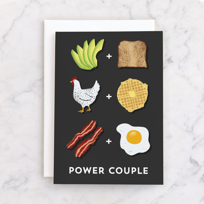 """""""Power Couple"""" - Individual Wedding Greeting Cards in Ink by Pink House Press."""