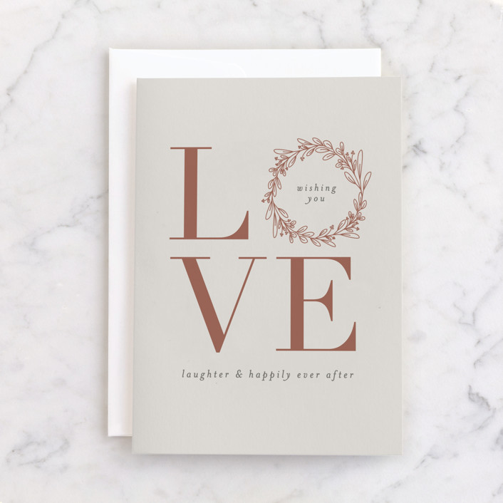 """""""Love and Laughter"""" - Individual Wedding Greeting Cards in Mist by Shirley Lin Schneider."""