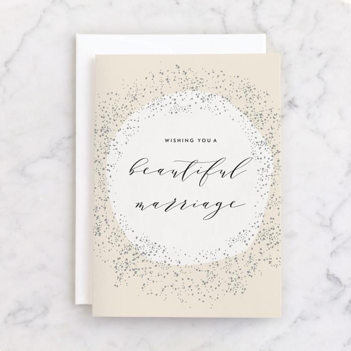 """""""Dreamy"""" - Individual Wedding Greeting Cards in Cream by Phrosne Ras."""