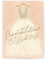 This is a pink wedding card by Julie Murray called Bride To Be with standard printing on signature in greeting cards.