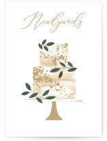 This is a brown wedding card by Kelly Williams called Newlyweds Cake with standard printing on signature in greeting cards.