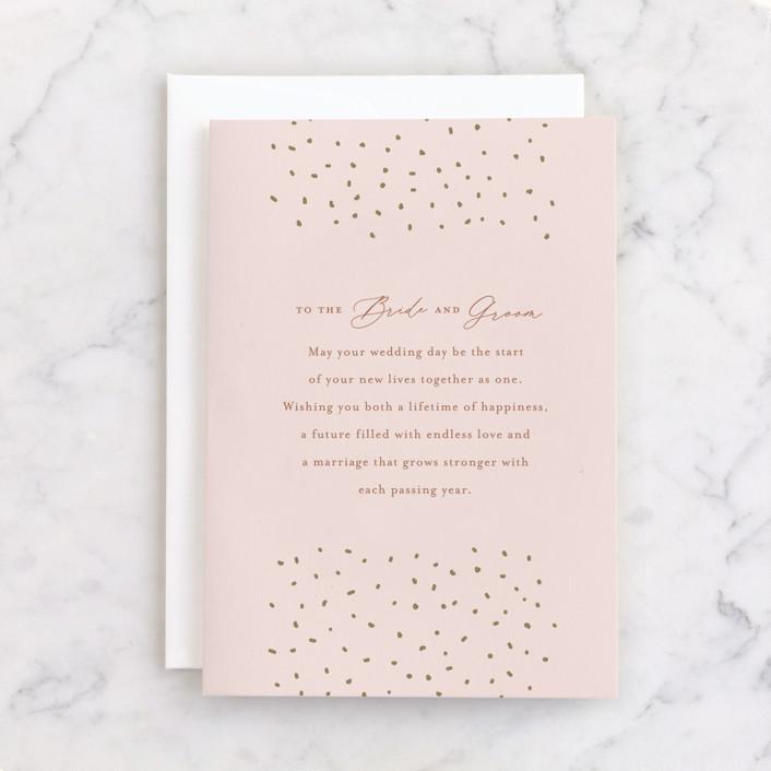 """Endless Love"" - Individual Wedding Greeting Cards in Carnation by Alethia Frye."