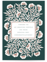This is a green wedding card by Katharine Watson called Big Cheers with standard printing on signature in greeting cards.