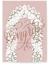 This is a pink wedding card by Carolyn Kach called Aisle Arch with standard printing on signature in greeting cards.