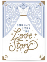 This is a purple wedding card by Cindy Chu called Love Story with standard printing on signature in greeting cards.