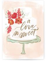 This is a pink wedding card by Rebecca Durflinger called Sweet Love with standard printing on signature in greeting cards.