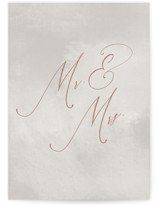 This is a grey wedding card by Stacey Meacham called Simply Married with standard printing on signature in greeting cards.