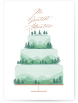 This is a green wedding card by Bethan called The Greatest Adventure with standard printing on signature in greeting cards.