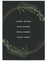 This is a green wedding card by Creo Study called Best Advice with standard printing on signature in greeting cards.