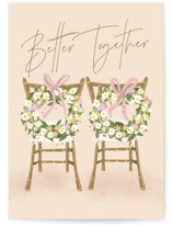 This is a beige wedding card by Ana Sharpe called Happy Duo with standard printing on signature in greeting cards.