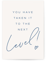 This is a white wedding card by SanaPerdere called Level Up with standard printing on signature in greeting cards.