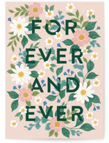 This is a green wedding card by Paper Raven Co. called forever and ever with standard printing on signature in greeting cards.