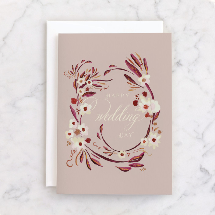 """""""Special Day"""" - Individual Wedding Greeting Cards in Rose by Lucrecia."""