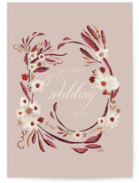 This is a pink wedding card by Lucrecia called Special Day with standard printing on signature in greeting cards.