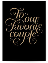 This is a black wedding card by Maria Alou called Favorite Couple with standard printing on signature in greeting cards.