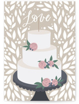 This is a brown wedding card by Yuliya Evseeva called Lovely cake with standard printing on signature in greeting cards.