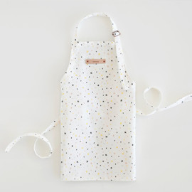 This is a colorful kids apron by Karly Depew of Oscar and Emma called Cherry on Top.