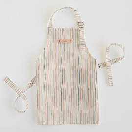 This is a colorful kids apron by Multiple Artists called Strands of Tradition in standard.