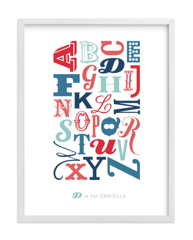 """Know Your Letters"" - Children's Custom Art Print by Blixa 6 Studios in beautiful frame options and a variety of sizes."
