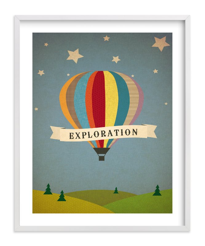 """""""Exploration Destination"""" - Children's Custom Art Print by Serenity Avenue in beautiful frame options and a variety of sizes."""