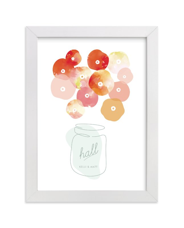 """""""Summer Picked Poppies"""" - Children's Custom Art Print by kelli hall in beautiful frame options and a variety of sizes."""