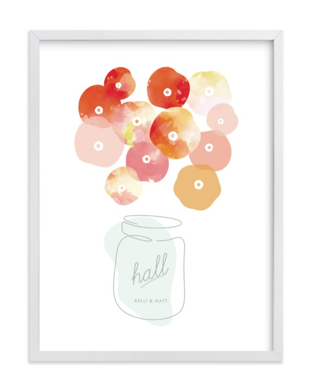 """Summer Picked Poppies"" - Children's Custom Art Print by kelli hall in beautiful frame options and a variety of sizes."